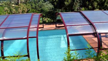 Cubierta piscina telescópica alta Ibiza