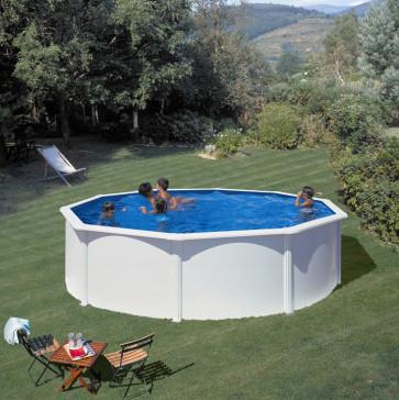 Piscina desmontable gre fidji acero blanco redonda 120 cm altura piscinas desmontables gre - Piscina desmontable acero ...