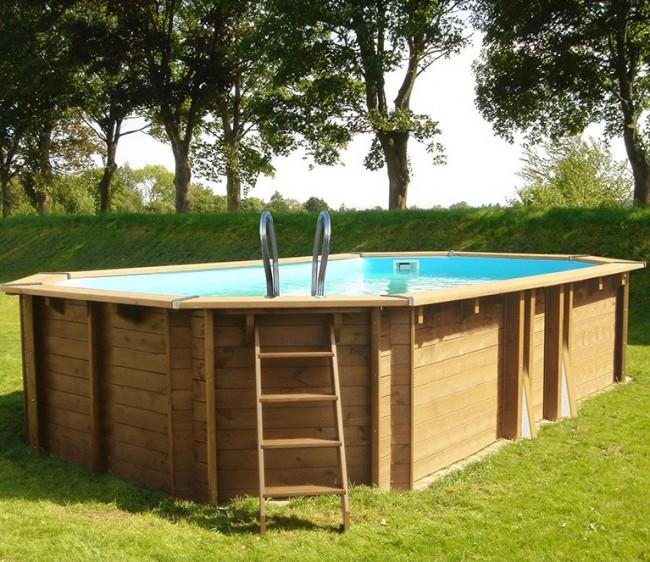 Piscina gre sunbay de madera ovalada piscinas desmontables gre piscinas spas saunas - Piscinas desmontables madera ...