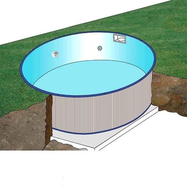 Piscina gre sumatra redonda de acero para enterrar 120 cm for Piscinas para enterrar