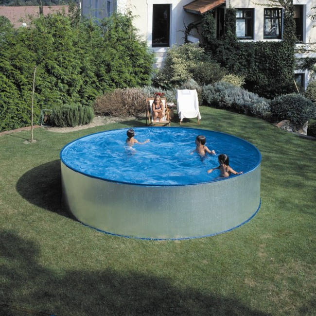 piscina acero redonda 90 cm altura gre