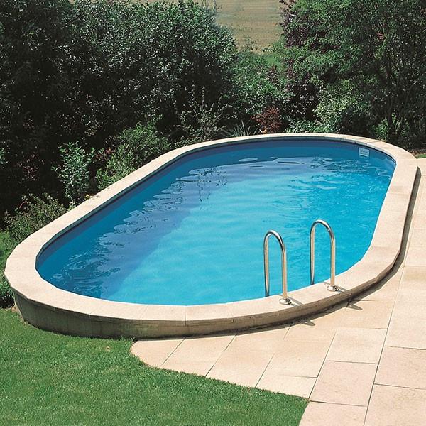 Piscina gre sumatra ovalada de acero para enterrar 120 cm for Toi piscinas desmontables