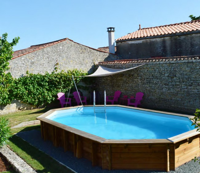 Piscina gre sunbay de madera ovalada piscinas for Piscinas gre carrefour
