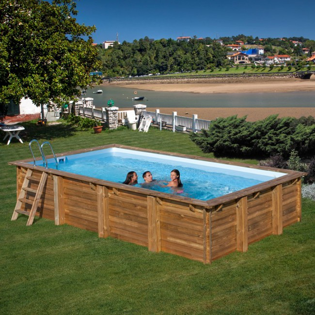 Piscina de madera gre sunbay rectangular piscinas for Piscina desmontable rectangular 3x2