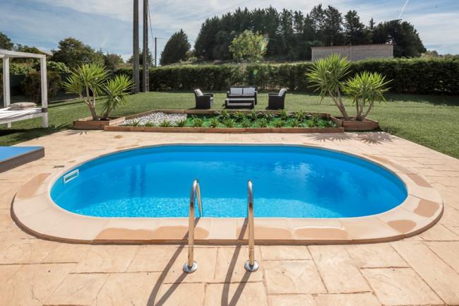 piscina gre moorea ovalada de acero para enterrar 150 cm