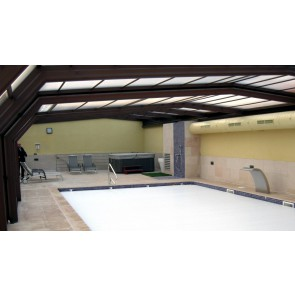 Cubierta piscina telescópica adosada alta Palma