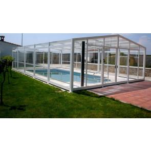 Cubierta policarbonato piscina alta Columbrete