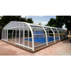 Cubierta policarbonato piscina alta Tabarca
